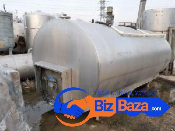 Продается Емкость нержавеющая — танк охладитель, объем — 5 куб.м