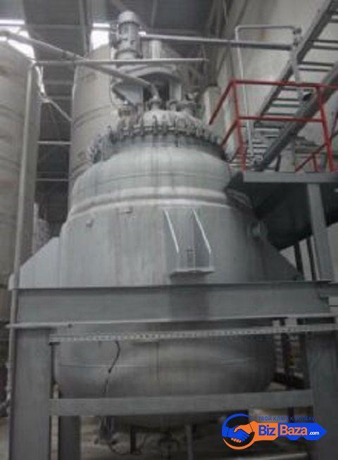 Продается Реактор эмалированный, объем -10 куб.м.