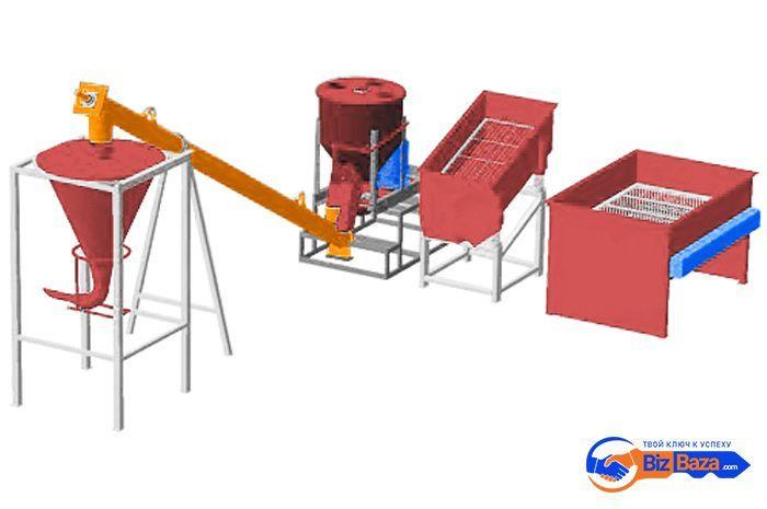 Линия для производства сухих строительных смесей, производительностью 5 тонн в смену МЗ-5Т