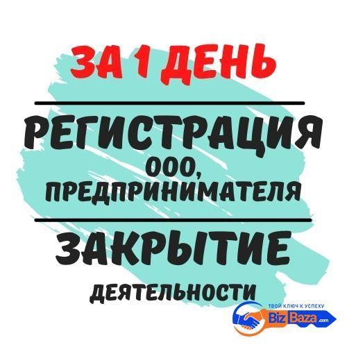 Регистрация ООО, ФЛП, ЧП (за 1 день) Ликвидация деятельности.